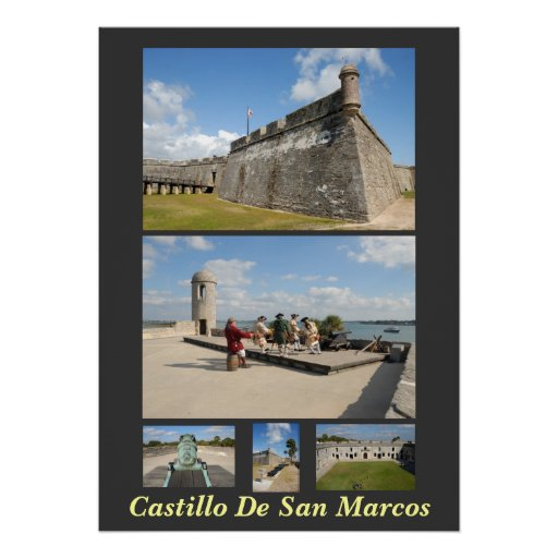 Castillo de san marcos poster zazzle - Marcos para posters ...