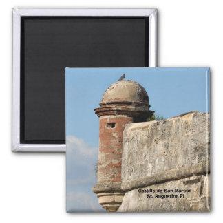 Castillo de San Marcos St Augustine la Florida Imán Cuadrado