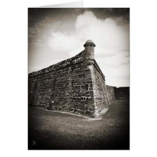Castillo de San Marcos (St Augustine, la Florida) Tarjeta De Felicitación