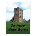 Castillo de Scarborough, Inglaterra Tarjetas Postales