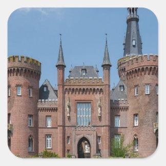 Castillo de Schloss Moyland Pegatina Cuadrada