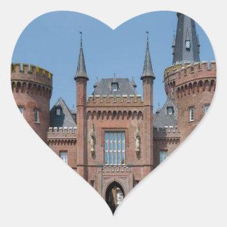 Castillo de Schloss Moyland Pegatina En Forma De Corazón