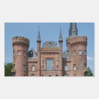 Castillo de Schloss Moyland Pegatina Rectangular