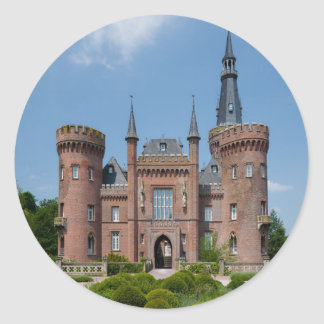 Castillo de Schloss Moyland Pegatina Redonda