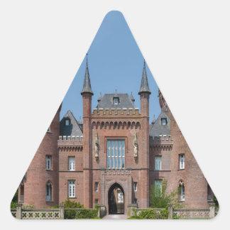Castillo de Schloss Moyland Pegatina Triangular