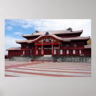 Castillo de Shuri en Okinawa, Japón Posters