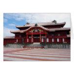 Castillo de Shuri en Okinawa, Japón Tarjeta Pequeña