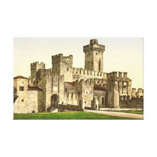 Castillo de Sirmione - lago Garda - Italia 1890 Lienzo Envuelto Para Galerías