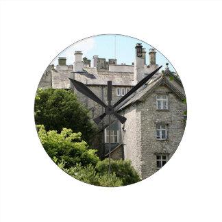 Castillo de Sizergh, Inglaterra, Reino Unido Reloj Redondo Mediano