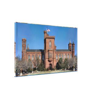 Castillo de Smithsonian en Washington, C.C. Impresión En Lienzo Estirada