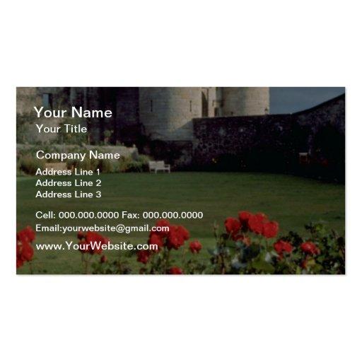 Castillo de Stirling, flores de Escocia Tarjetas De Visita