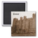 Castillo de Templar Imán Cuadrado