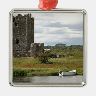 Castillo de Threave, Escocia, Reino Unido Adorno Navideño Cuadrado De Metal