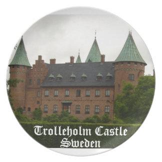 Castillo de Trolleholm, Suecia Plato Para Fiesta