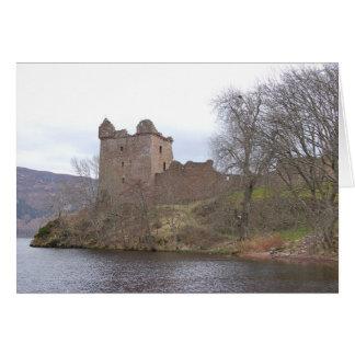 Castillo de Urquhart, Loch Ness, Escocia Tarjeton