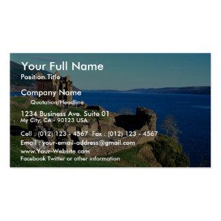 Castillo de Urquhart, Loch Ness, Escocia Tarjetas De Visita