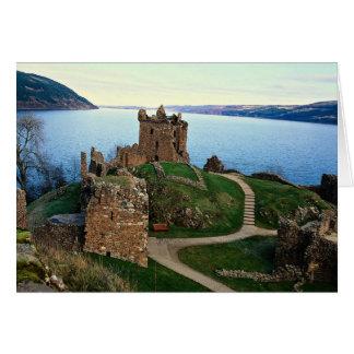 Castillo de Urquhart Loch Ness Escocia Tarjetas
