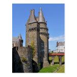 Castillo de Vitré en Francia Tarjetas Postales