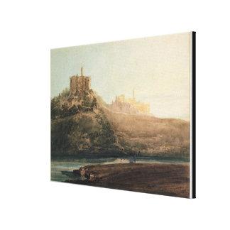Castillo de Warkworth, Northumberland, c.1798 (w/c Impresiones En Lienzo Estiradas