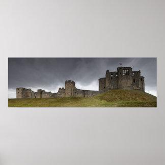 Castillo de Warkworth Poster