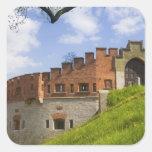 Castillo de Wawel, Kraków, Polonia Calcomanía Cuadradas