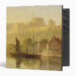 Castillo de Windsor del Thames (aceite en cartón p