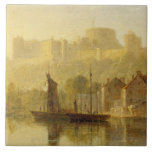 Castillo de Windsor del Thames (aceite en cartón p Teja Cerámica
