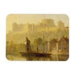 Castillo de Windsor del Thames (aceite en cartón p Imán De Vinilo