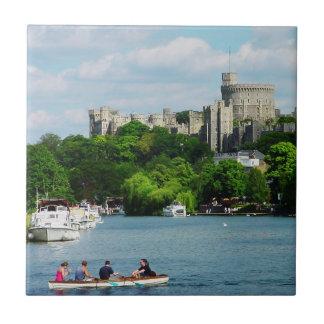 Castillo de Windsor del Thames Azulejo Cuadrado Pequeño