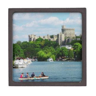 Castillo de Windsor del Thames Cajas De Joyas De Calidad