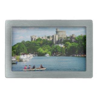Castillo de Windsor del Thames Hebilla Cinturon Rectangular