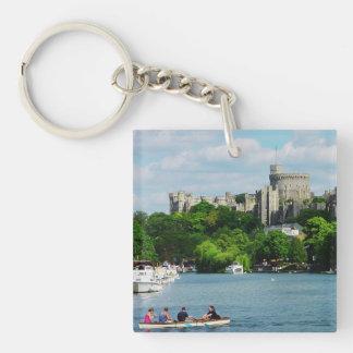 Castillo de Windsor del Thames Llavero Cuadrado Acrílico A Doble Cara