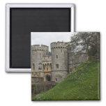Castillo de Windsor en Inglaterra Imán Cuadrado