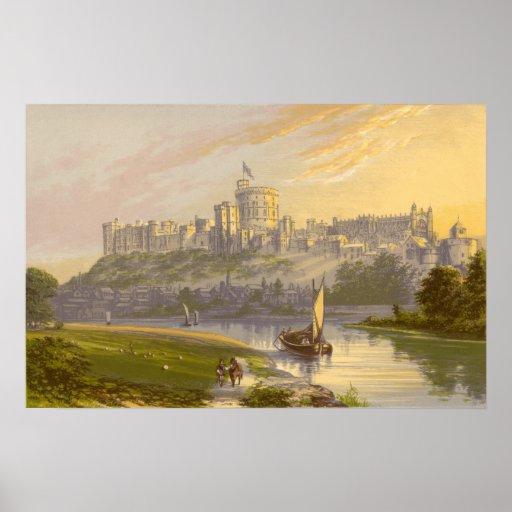 Castillo de Windsor, la residencia real Póster