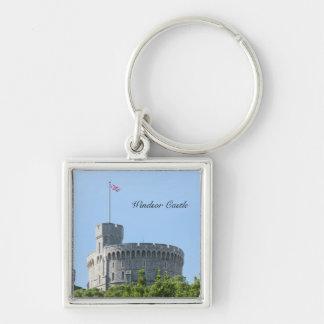 Castillo de Windsor Llavero Cuadrado Plateado