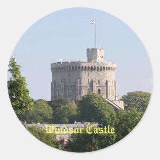 Castillo de Windsor Etiqueta Redonda