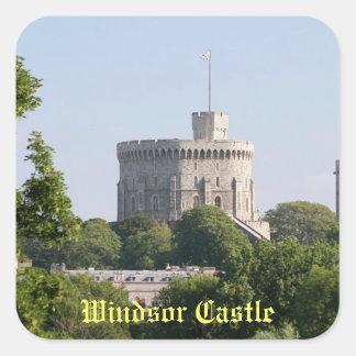 Castillo de Windsor Pegatinas Cuadradases Personalizadas