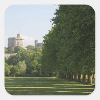 Castillo de Windsor Calcomanía Cuadradas