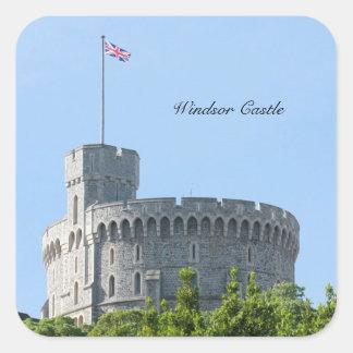 Castillo de Windsor Pegatina Cuadrada