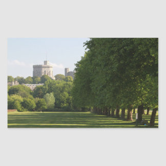 Castillo de Windsor Pegatina Rectangular