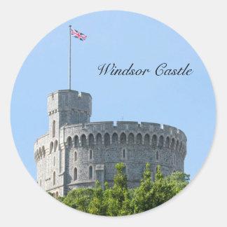 Castillo de Windsor Pegatina Redonda
