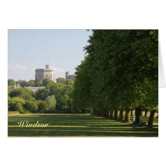 Castillo de Windsor Tarjeta De Felicitación