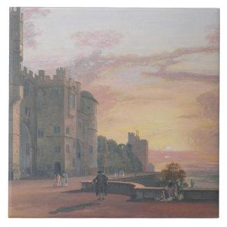 Castillo de Windsor: Terraza del norte que mira de Azulejo Cuadrado Grande