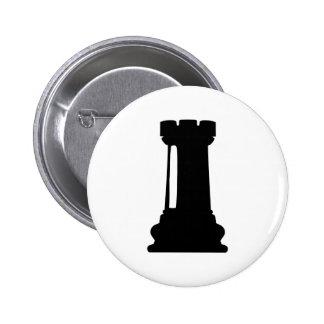 Castillo del ajedrez pin redondo de 2 pulgadas
