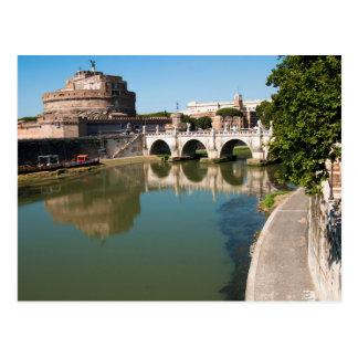 Castillo del ángel santo de un puente tarjeta postal