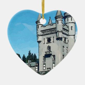 Castillo del Balmoral Adorno Navideño De Cerámica En Forma De Corazón