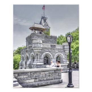 Castillo del belvedere en Central Park Fotografias