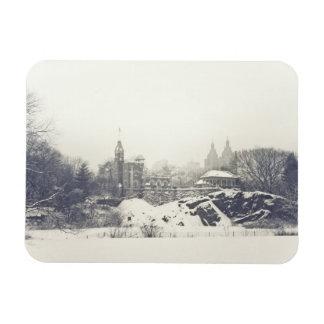 Castillo del belvedere en el invierno en Central Imanes Flexibles