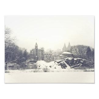 Castillo del belvedere en el invierno en Central P Fotografía