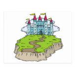 Castillo del boda del cuento de hadas tarjetas postales